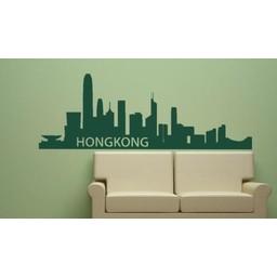Skyline Hongkong muursticker