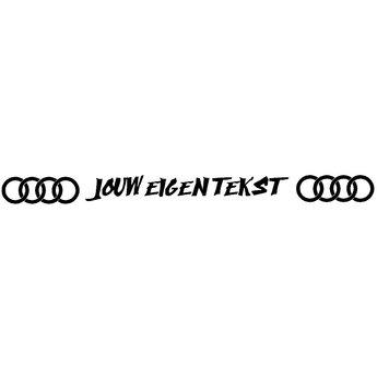 Audi zonneband met eigen tekst