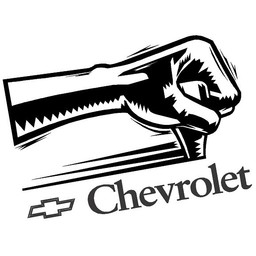 Chevrolet power shift. Autosticker