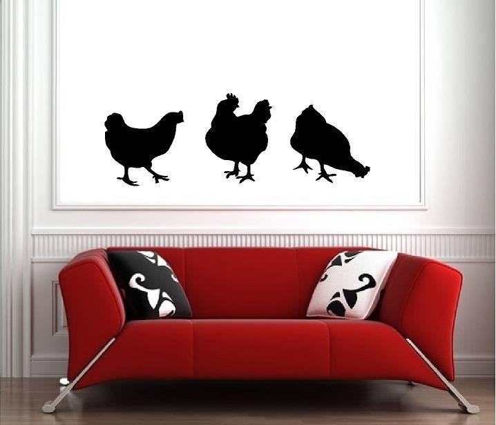Haan met kippen.