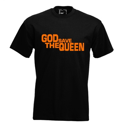 God save the queen. Keuze uit T-shirt of Polo en div. kleuren. S t/m 8 XL