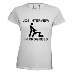 Job interview in progress. Keuze uit T-shirt of Polo en div. kleuren. S t/m 8 XL