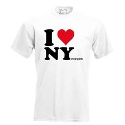 I love NYmegen. Keuze uit T-shirt of Polo en div. kleuren. S t/m 8 XL