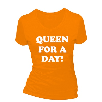 queen for a day dames t shirt in div kleuren xs t m 4 xl qualitysticker. Black Bedroom Furniture Sets. Home Design Ideas