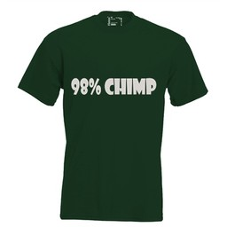 98% chimp. Dames T-shirt in div. kleuren. XS t/m 4 XL