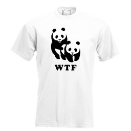 WTF (WNF). Dames T-shirt in div. kleuren. XS t/m 4 XL