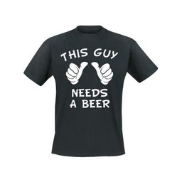 This guy needs a beer. Keuze uit T-shirt of Polo en div. kleuren. S t/m 8 XL