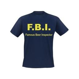 F.B.I. Famous beer inspector. Keuze uit T-shirt of Polo en div. kleuren. S t/m 8 XL