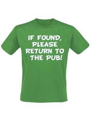 If found please return to the pub. Keuze uit T-shirt of Polo en div. kleuren. S t/m 8 XL