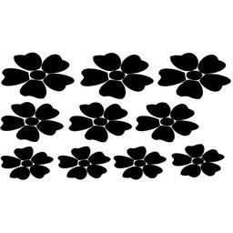 Set raamsticker bloemen. ( Bijpassend bij Groeiende bloemen raamsticker )
