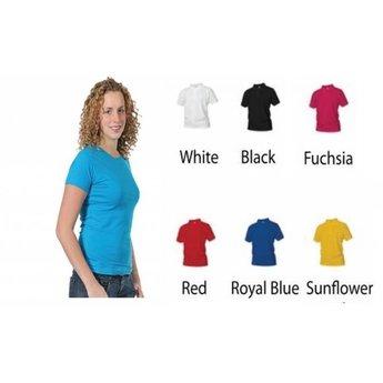 Eigen ontwerp shirt. Dames T-shirt. div. kleuren. XS t/m 4 XL.