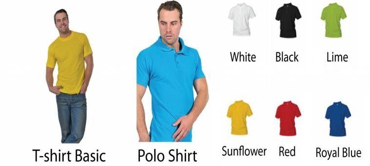1 MB beschikbaar. Keuze uit T-shirt of Polo en div. kleuren. S t/m 8 XL