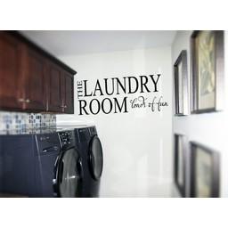 The Laundry Room Loads of Fun muursticker