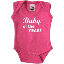 baby of the year. Rompertje in div kleuren en maat 56 t/m 92.