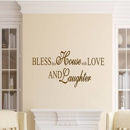 Bless this house with love and laughter muursticker