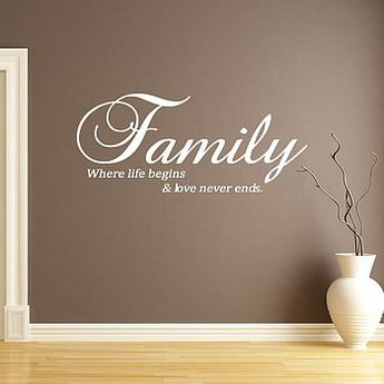 Family where life begins and love never ends 2