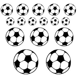 Set ballen. Ook bijpassen bij de voetbal naamsticker