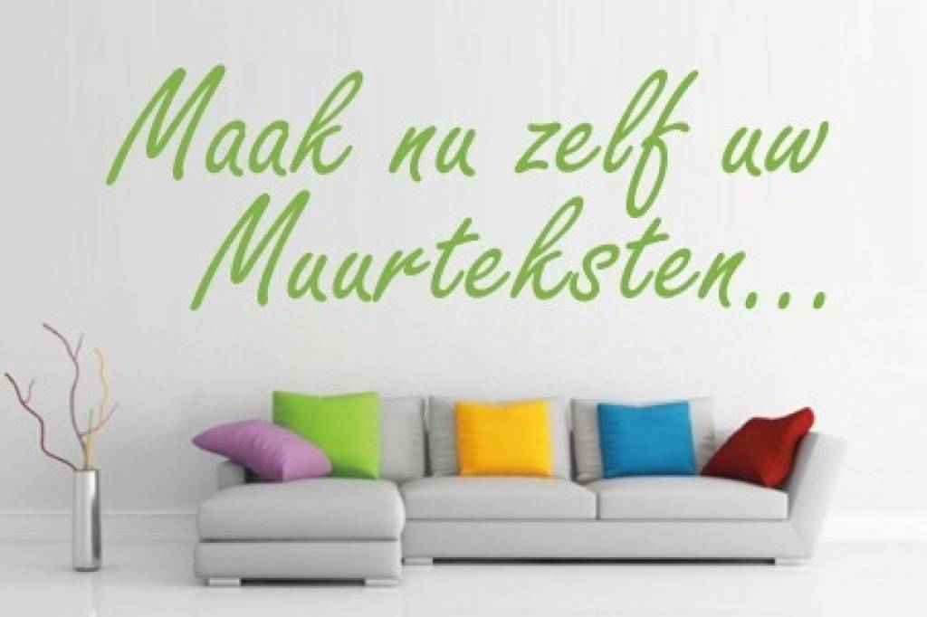 Ontwerp je eigen muursticker of sjabloon 100cm breed for Je eigen slaapkamer ontwerpen