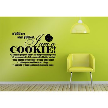 If you are what you eat, I am a cookie met recept. Muursticker