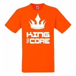 King of core met kroon T-shirt of Polo en div. kleuren. S t/m 8 XL