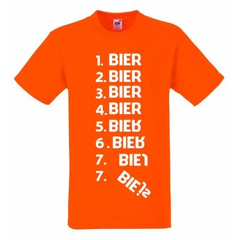 1 bier 2 bier 3 bier. T-shirt of Polo en div. kleuren. S t/m 8 XL