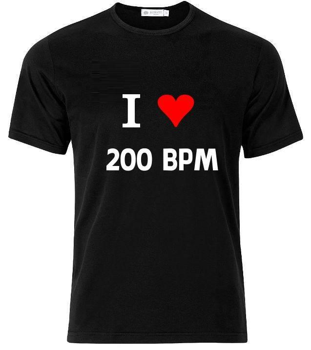 I love 200 bpm. T-shirt of Polo en div. kleuren. S t/m 8 XL