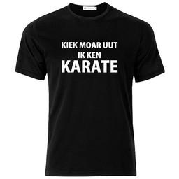 kiek moar uut ik ken karate. Keuze uit T-shirt of Polo en div. kleuren. S t/m 8 XL