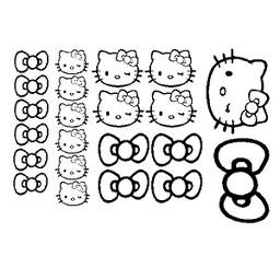 Hello Kitty autosticker set.