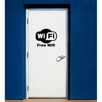 Free wifi ( wi-fi ) sticker