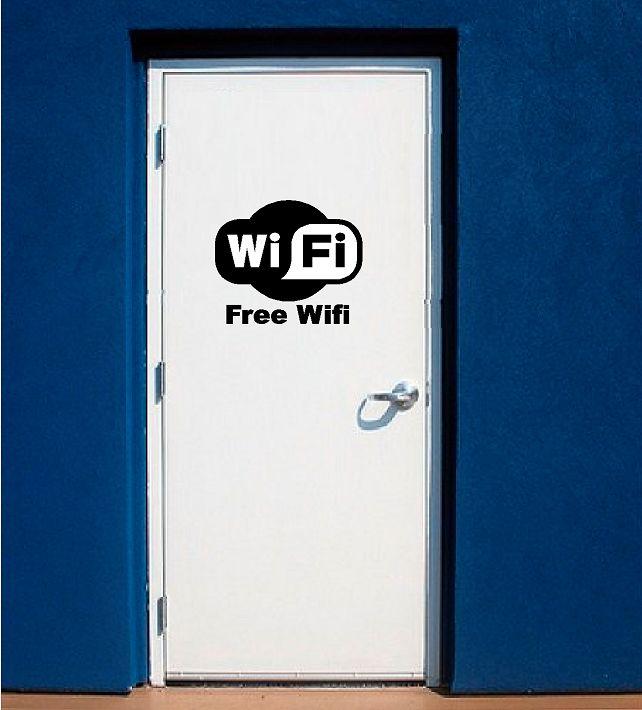 Free wifi ( wi-fi ) sticker