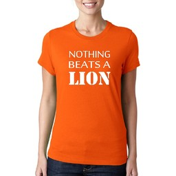 Nothing beats a lion. dames WK T-shirt.