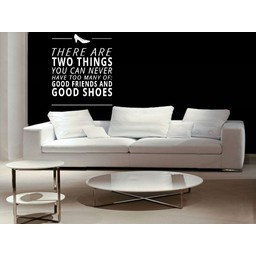 There are two things you can never have to many of, good friends and good shoes muursticker
