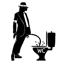 Michael Jackson wc sticker