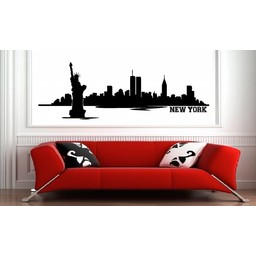 Skyline new York muursticker