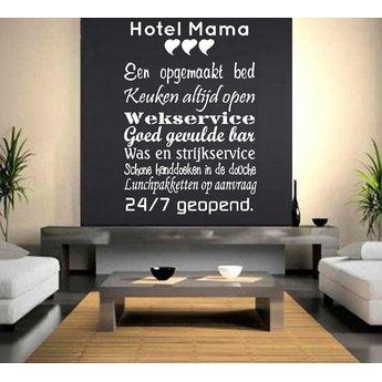 Hotel mama. Muursticker