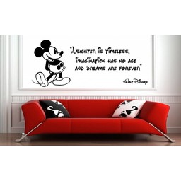 Mickey Mouse laughter is timeless muursticker