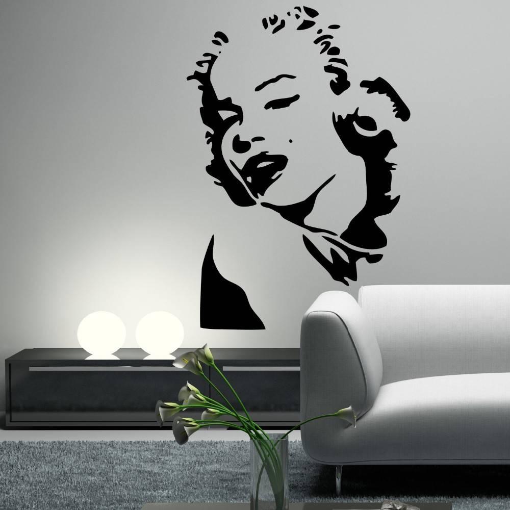 Marilyn monroe portret muursticker qualitysticker for Pegatinas de pared baratas