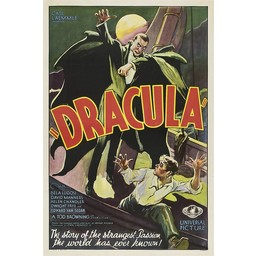 Dracula vintage movie poster. Universal Pictures