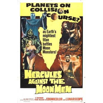 Hercules against moon men movie poster.