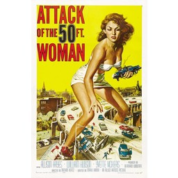 Attack of the 50 ft woman movie poster
