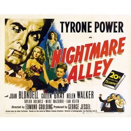 Nightmare alley met Tyron Power 20th centuery-fox Triumph movie poster