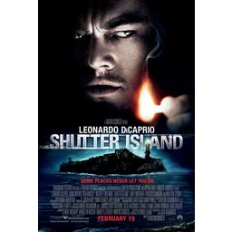 Shutter Island met Leonardo Dicaprio movie poster