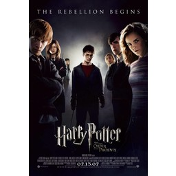 Harry Potter  And the order of the Phoenix. The rebellion begins movie poster