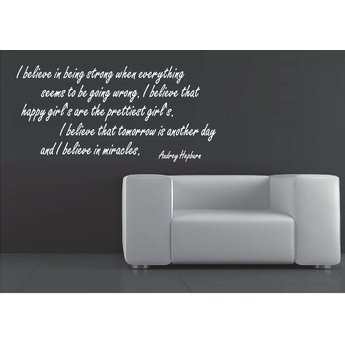 Audrey Hepburn quote. I believe in being strong when everything seems to be wrong