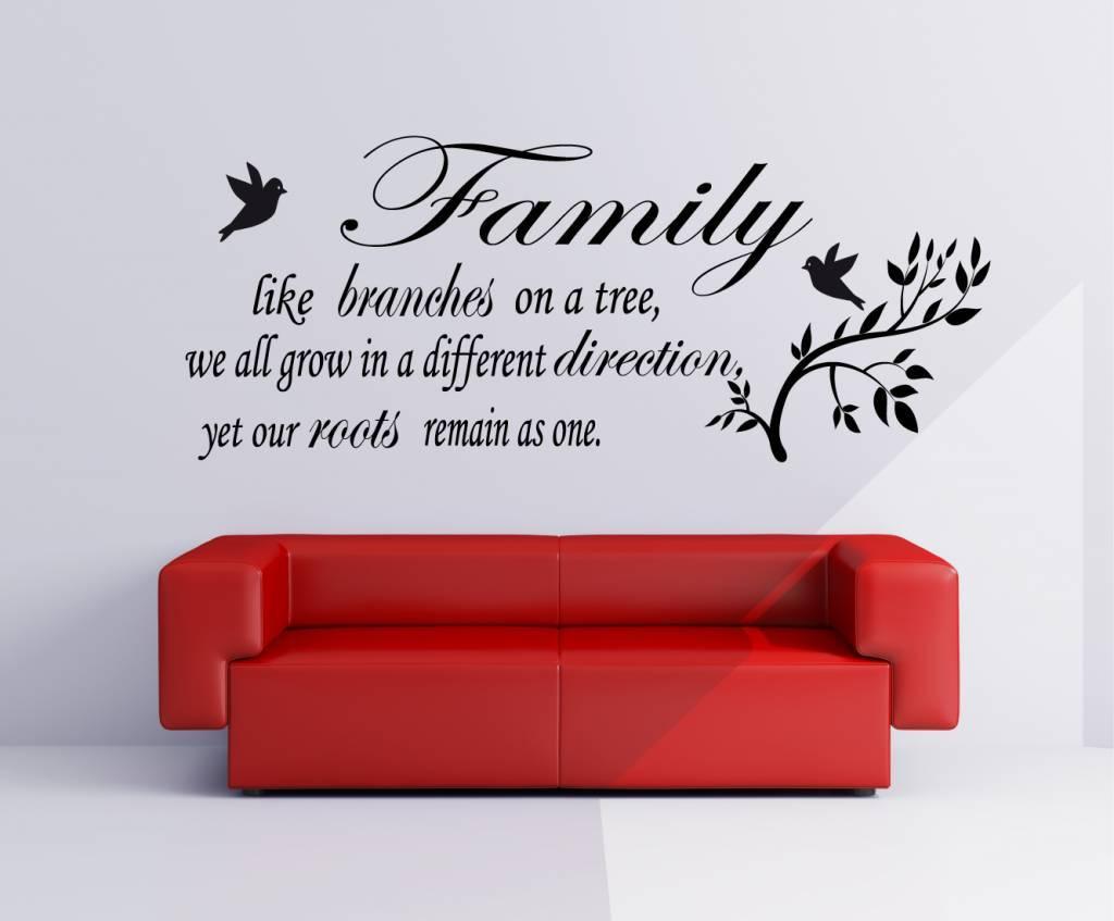 een leuke muurstickers tekst voor in huis - qualitysticker, Deco ideeën