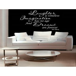 Laughter is timeless Walt Disney quote Muursticker