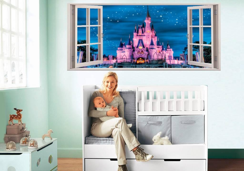 Muursticker open raam zelf ontwerpen qualitysticker for Je eigen slaapkamer ontwerpen