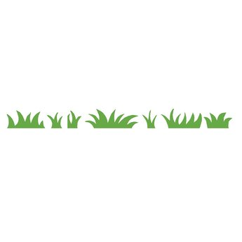 Gras banen muursticker