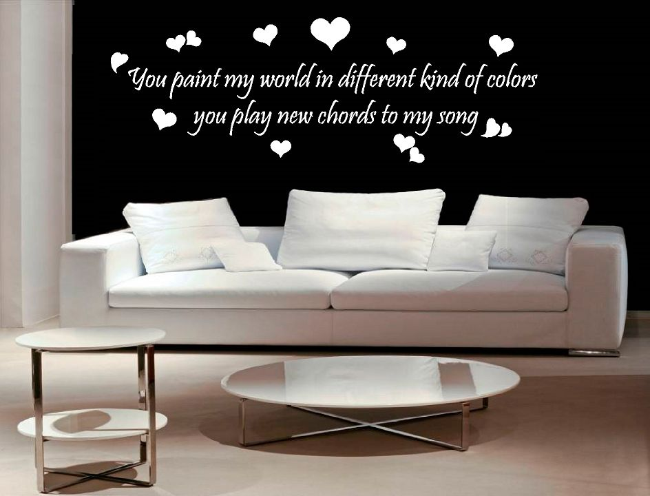 You paint my world in different kind of colors Muursticker