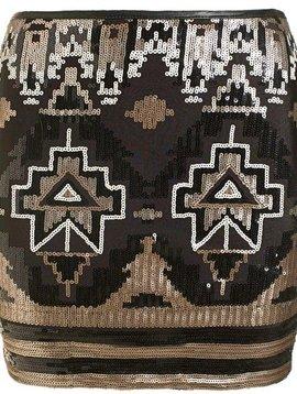Sequin skirt Brons/gold